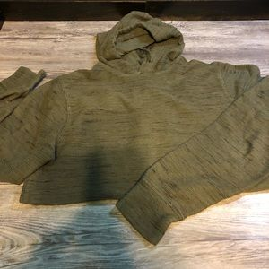 VGUC Old Navy military green hoodie small
